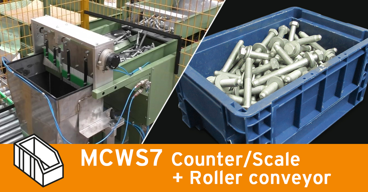 Video - Weigher MCWS7 with roller conveyors for KLT
