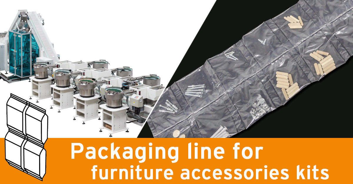Video - Double counting modules line for furniture accessories kits