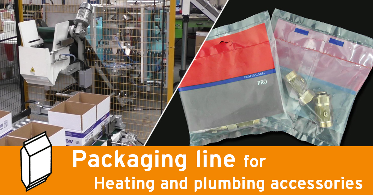 Video - Packaging line with conveyor for carton boxes